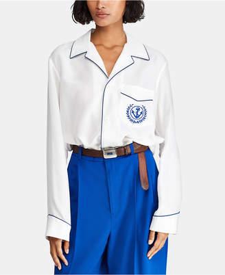 Polo Ralph Lauren Embroidered Silk Shirt