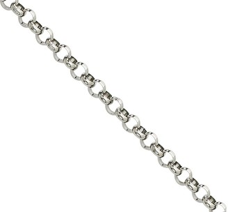 "Steel By Design Stainless Steel 24"" Rolo Chain Necklace"