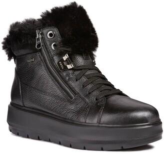 Geox Kaula Faux-Fur Cuff Sneaker