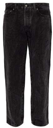 Givenchy Washed Straight Leg Jeans - Mens - Grey