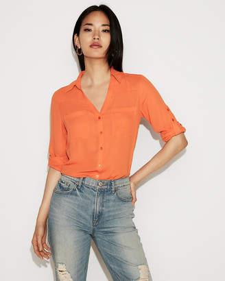 Express Slim Fit Portofino Shirt