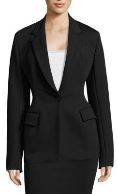 DKNY Solid Notch Collar Jacket $598 thestylecure.com