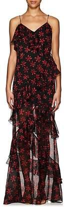 RAQUEL DINIZ Women's Jade Floral Silk Long Dress