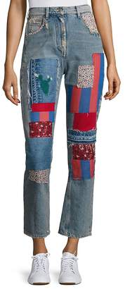 Tommy Hilfiger Women's Patched Denim Pants