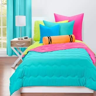 Crayola Turquoise Blue and Hot Magenta Comforter