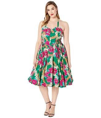 Unique Vintage Plus Size x Alfred Shaheen Kahuna Print Swing Dress