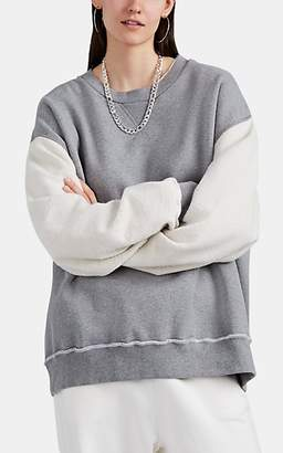 MM6 MAISON MARGIELA Women's Cotton Oversized Sweatshirt - Gray