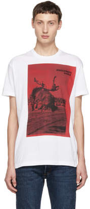 DSQUARED2 White Dyed Cool Fit T-Shirt