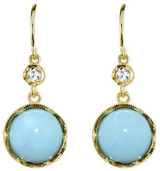 Irene Neuwirth Turquoise and Rose Cut Diamond Earrings