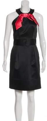 Milly Bow Embellishment Mini Dress