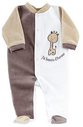 Kinousses Baby Girls' Footie brown chocolate 0 Months