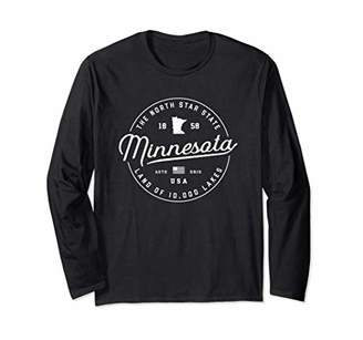 Minnesota Gift State Slogan Travel Vacation Long Sleeve T-Shirt
