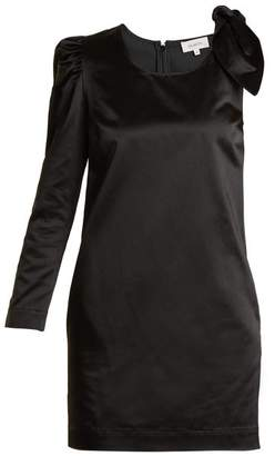 Isa Arfen Asymmetric Duchess Satin Dress - Womens - Black