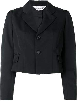 Comme des Garcons cropped fitted blazer