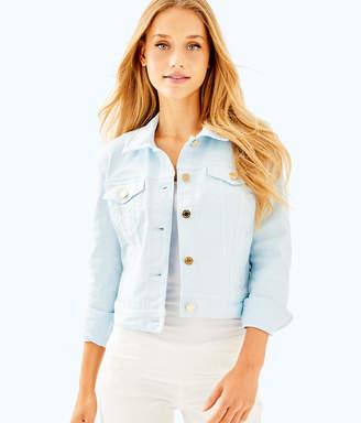 Lilly Pulitzer Womens Seaspray Denim Jacket