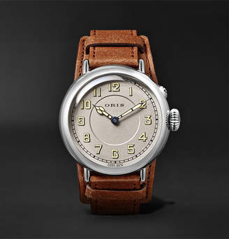 Oris Big Crown 1917 Limited Edition Automatic 40mm Stainless Steel and Leather Watch - Silver