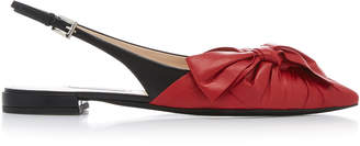 Prada Ballerina Leather Slingback Flat