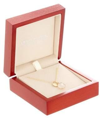 Argentovivo Gold Plated Sterling Silver Heart Charm Rose Quartz Pendant