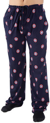 Novelty Licensed Captain America Jersey Pajama Pants
