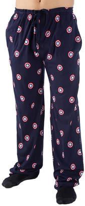 Novelty Licensed Mens Big Pajama Pants Captain America