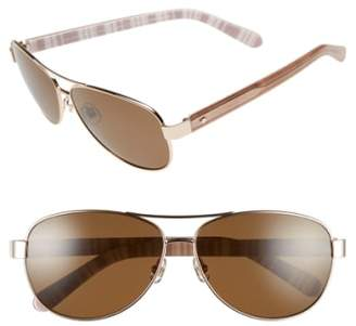 Kate Spade 'dalia' 58mm Polarized Aviator Sunglasses
