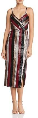 Aqua Sequined Stripe Dress - 100% Exclusive