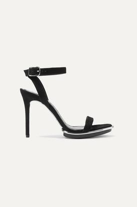 Alexander Wang Cady Metallic-trimmed Suede Platform Sandals - Black