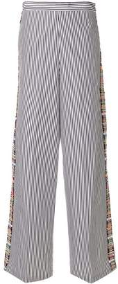 Ports 1961 flared striped trousers