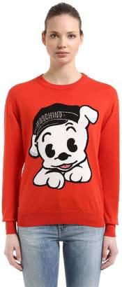 Moschino Oversize Pudgy Cotton Knit Sweater