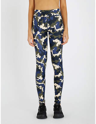 The Upside French Camo high-rise stretch-jersey leggings