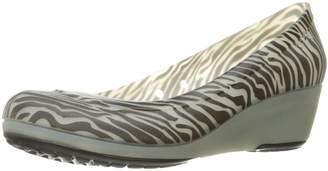 Crocs Women's Carlisa Animal Graphic Miniwedge