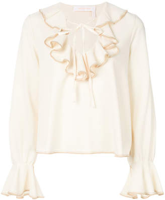 See By Chloé ruffled peasant blouse