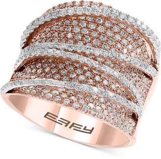 Effy Diamond Pave Statement Ring (1-5/8 ct. t.w.) in 14k Rose & White Gold