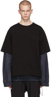 Juun.J Black Layered T-Shirt