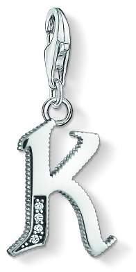 f22049535be Thomas Sabo Jewellery Ladies Sterling Silver Charm Club Letter K Charm 1591- 643-21
