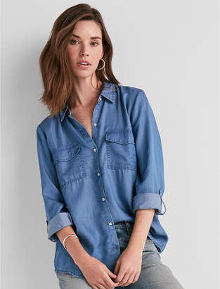 Lucky Brand Solid Button Down