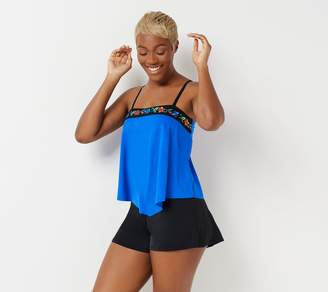 Fit 4 U Embroidered Bandeau Tankini with Short