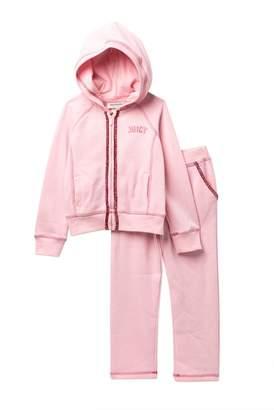 Juicy Couture Pink Scottie Dog Fleece Hoodie & Pants Set\n(Big Girls)