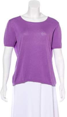 Malo Scoop Neck Short Sleeve Top