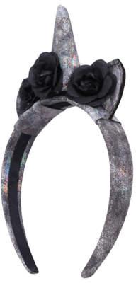 George Halloween Black Rose Unicorn Headband