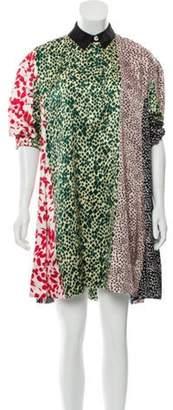 Sonia Rykiel Long Sleeve Mini Dress green Long Sleeve Mini Dress