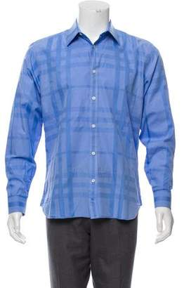 Burberry Exploded Check Button-Up Shirt