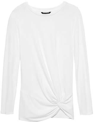 Banana Republic Luxespun Twist-Front T-Shirt