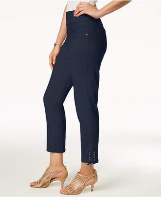 Style&Co. Style & Co Lace-Up Hem Capri Pants, Created for Macy's