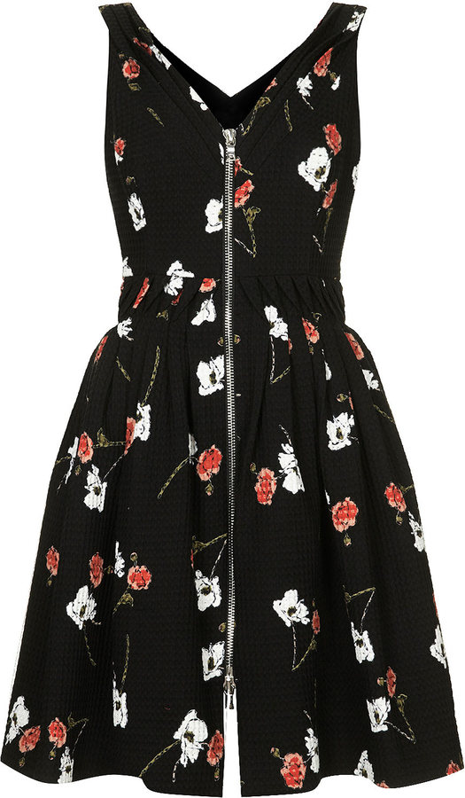 Kate Moss for topshop **zip front floral print sundress