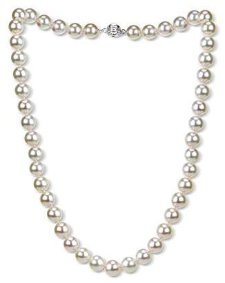 18k Gold 8-8.5mm AAAA Hand-Picked Japanese Akoya Cultured Pearl Ball Clasp Necklace