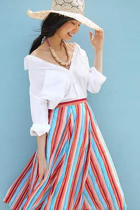 Maeve Claremont Pleated Midi Skirt