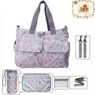My Share Mall MSM Original Floral Designer Diaper Tote Bags