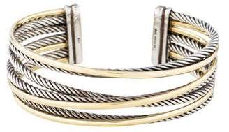 David Yurman Two-Tone Four-Row Crossover Cuff Bracelet
