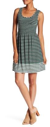 Max Studio Striped Fit & Flare Dress